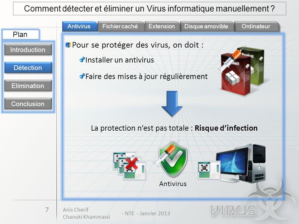 Pour se protéger des virus, on doit :