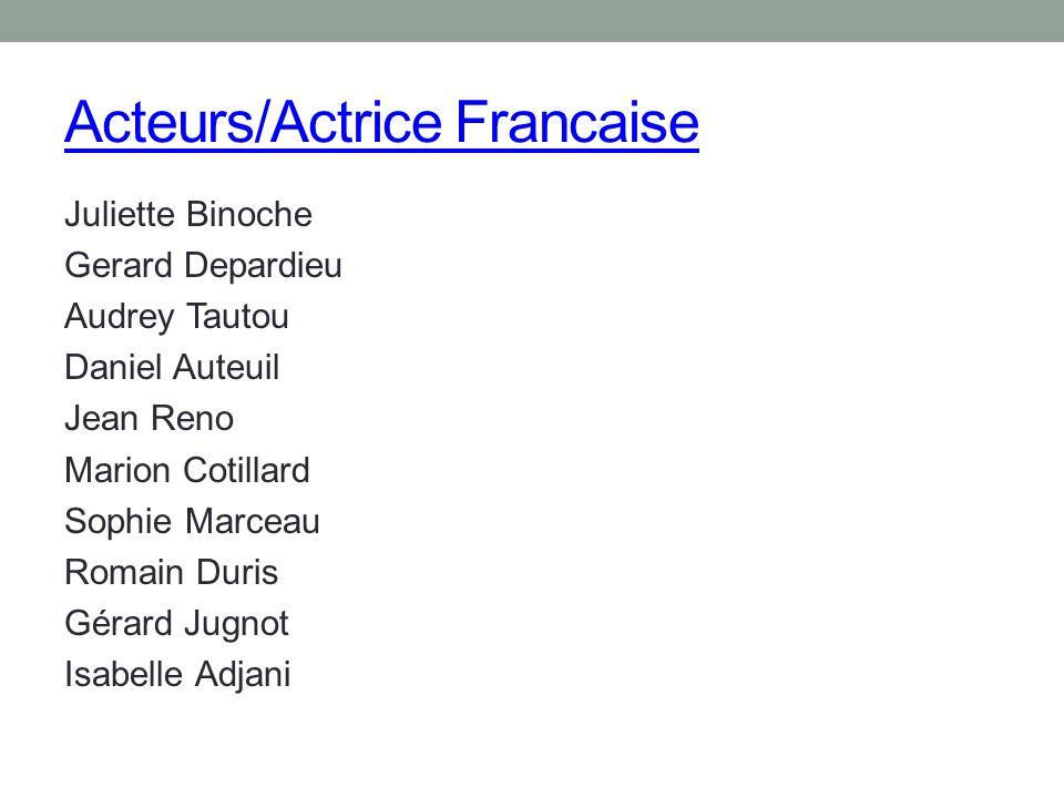 Acteurs/Actrice Francaise