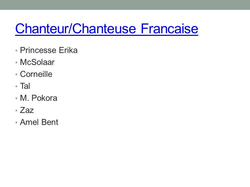 Chanteur/Chanteuse Francaise