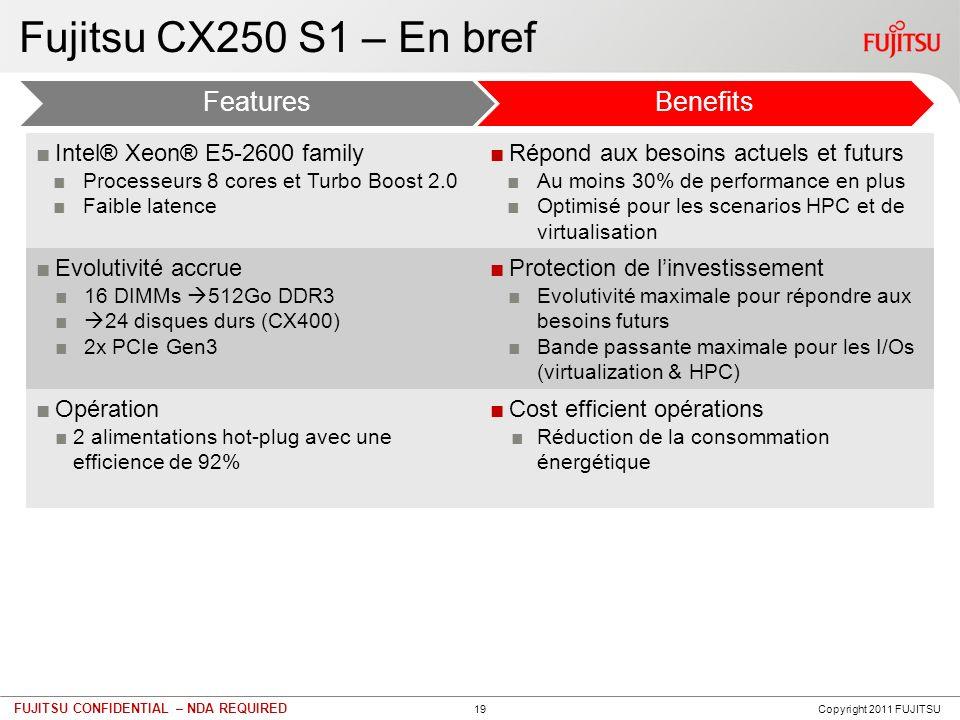 PRIMERGY CX250 S1 - Caractéristiques