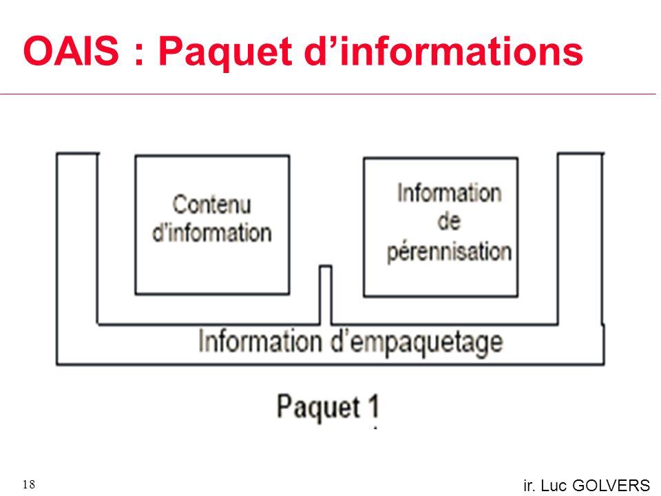 OAIS : Paquet d'informations