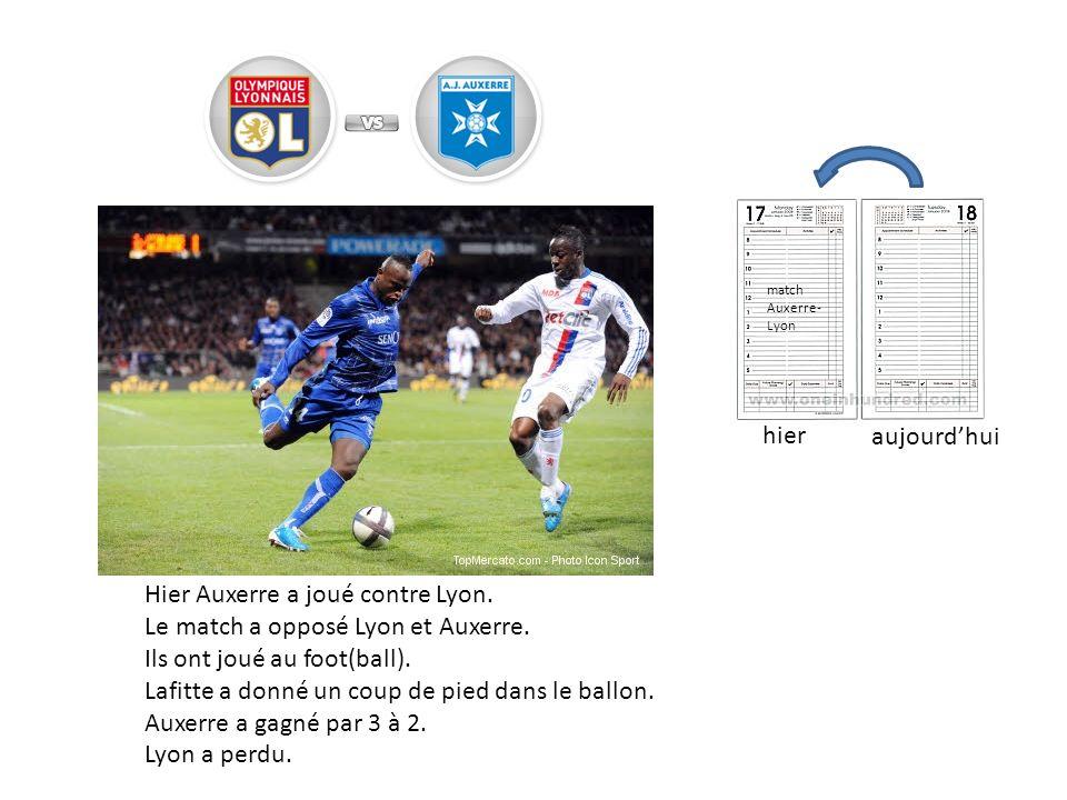 Hier Auxerre a joué contre Lyon. Le match a opposé Lyon et Auxerre.