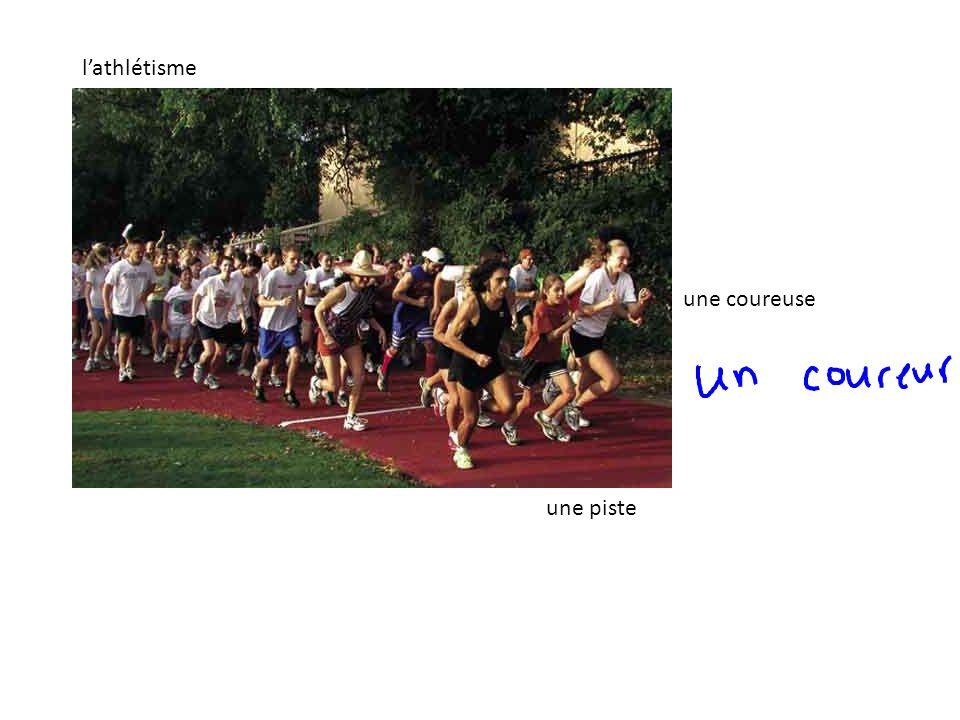l'athlétisme une coureuse une piste
