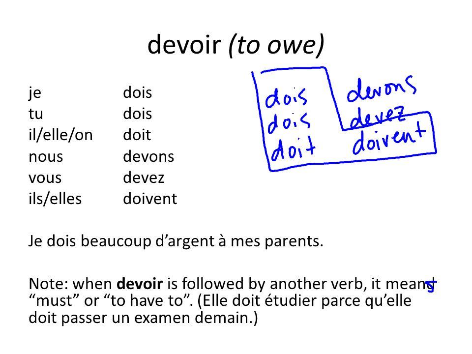 devoir (to owe)