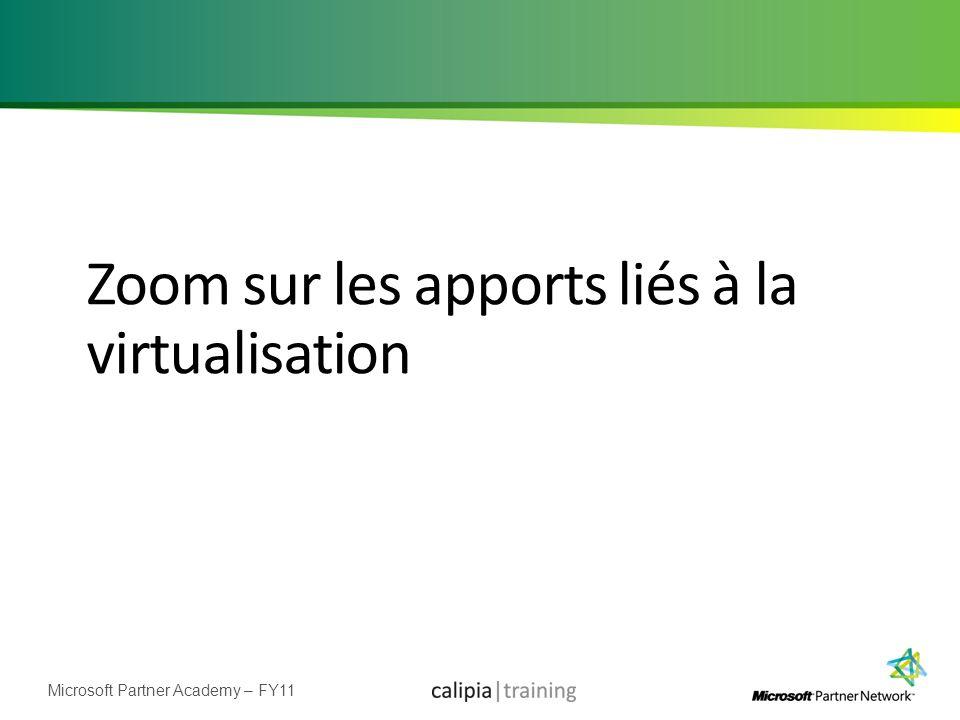 Zoom sur les apports liés à la virtualisation