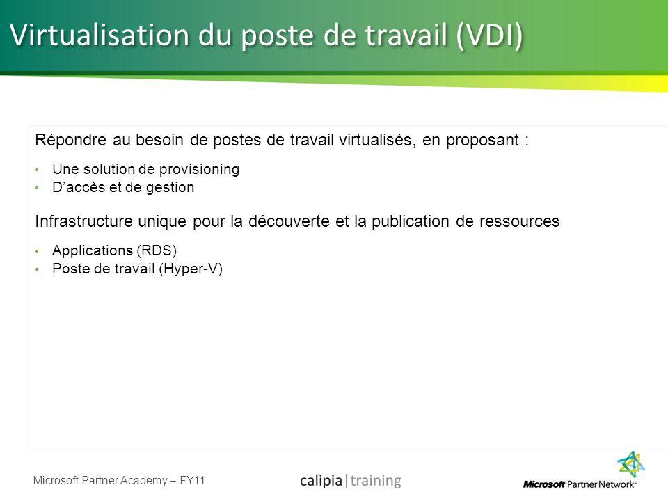 Virtualisation du poste de travail (VDI)