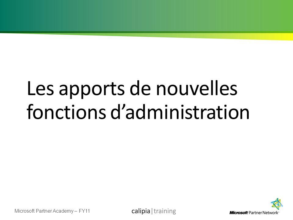 Les apports de nouvelles fonctions d'administration