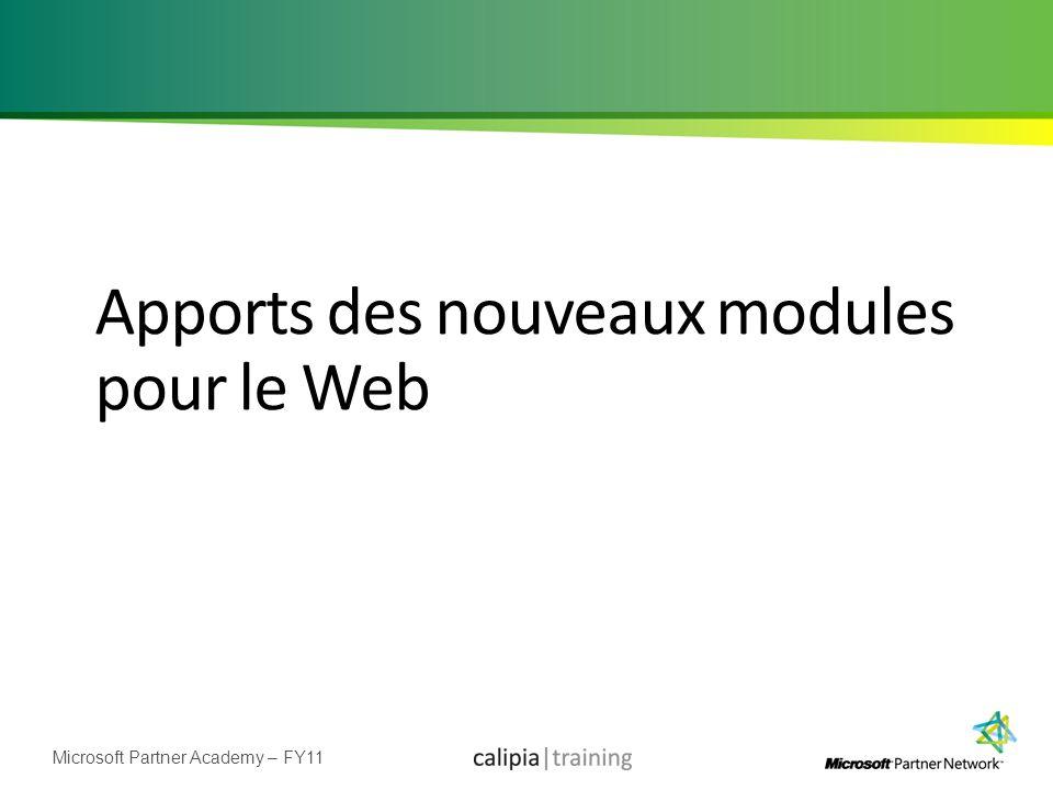 Apports des nouveaux modules pour le Web