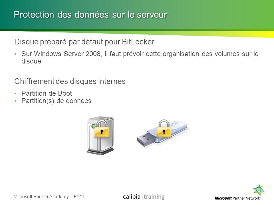 Protection des données sur le serveur