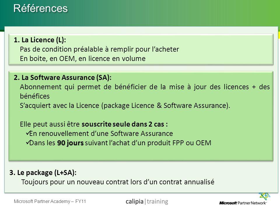 Références 1. La Licence (L):