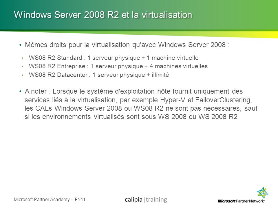 Windows Server 2008 R2 et la virtualisation