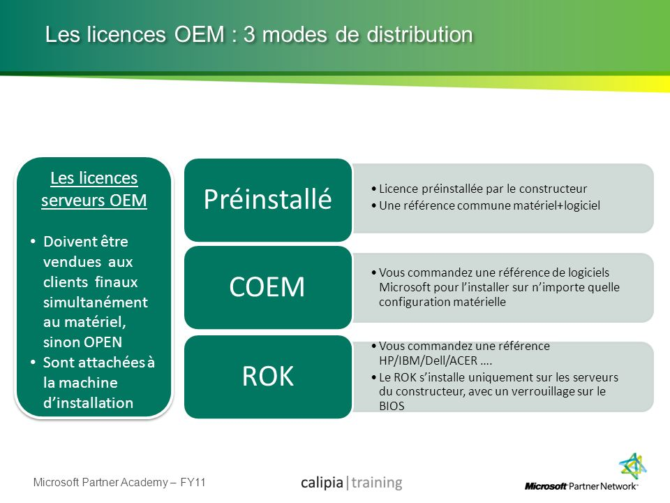 Les licences OEM : 3 modes de distribution