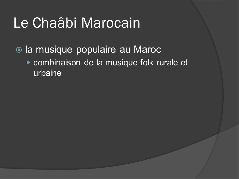Le Chaâbi Marocain la musique populaire au Maroc