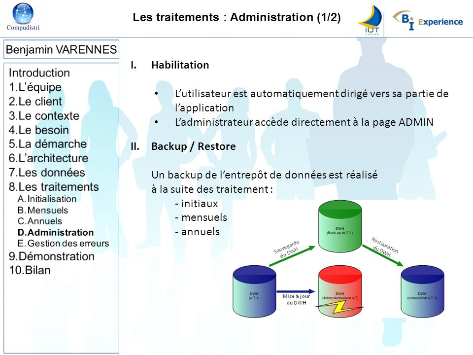 Les traitements : Administration (1/2)