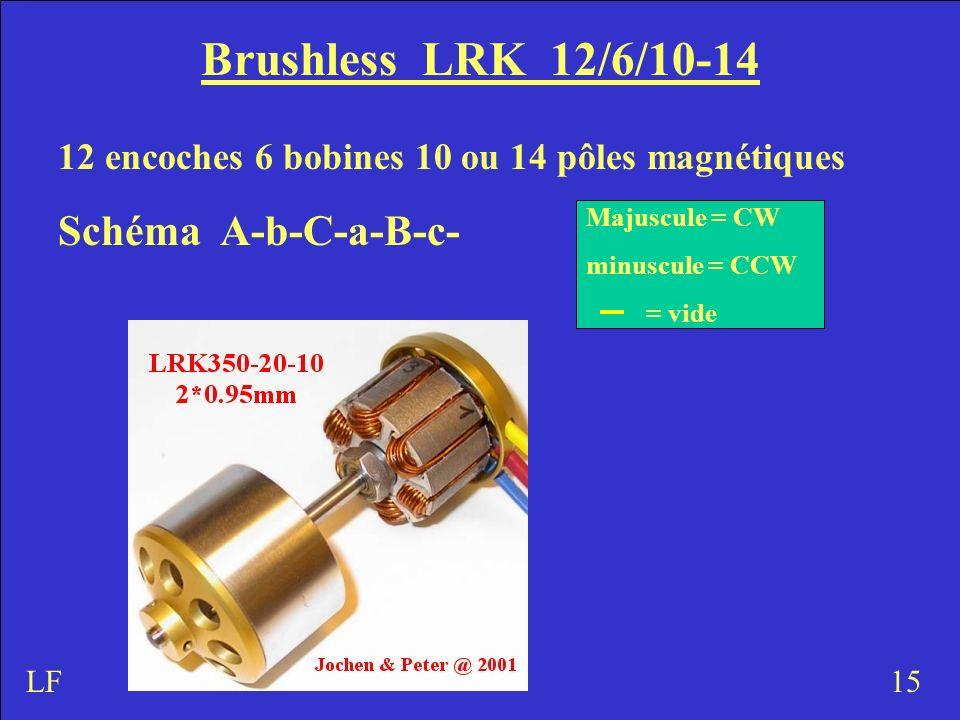 Brushless LRK 12/6/10-14 Schéma A-b-C-a-B-c-