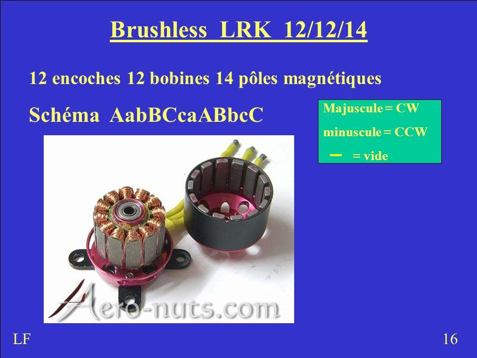 Brushless LRK 12/12/14 Schéma AabBCcaABbcC