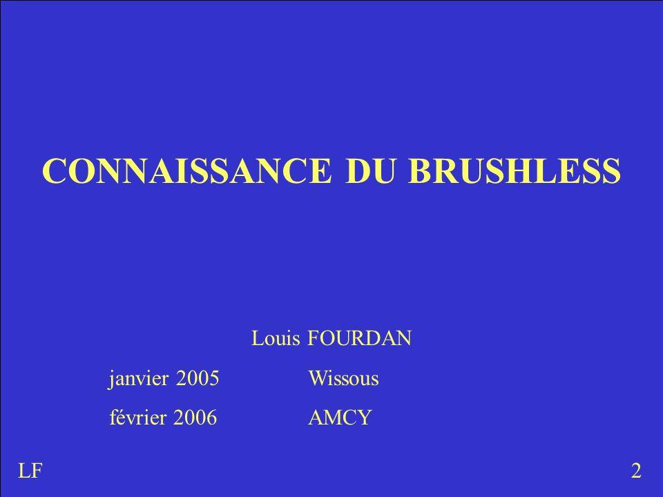 CONNAISSANCE DU BRUSHLESS