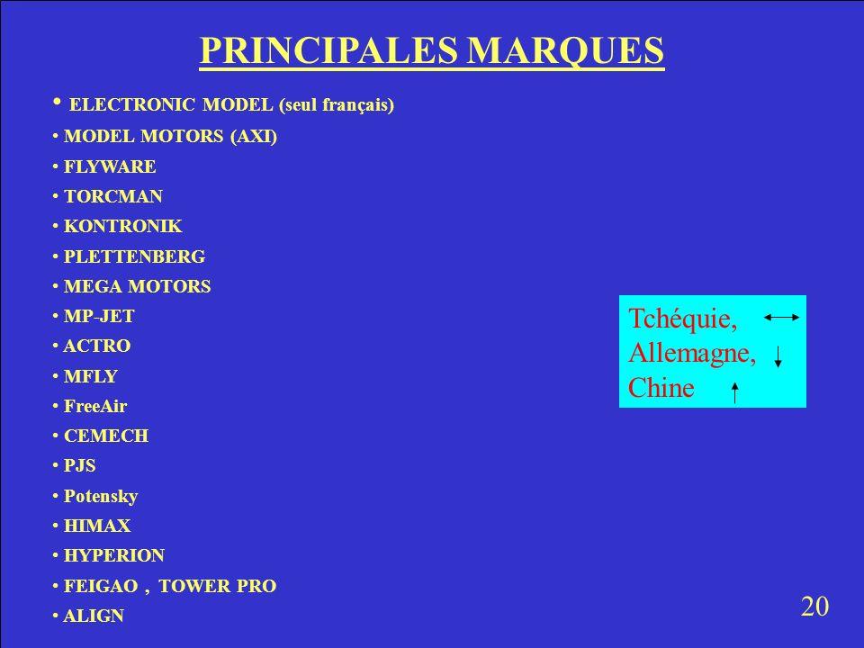 PRINCIPALES MARQUES ELECTRONIC MODEL (seul français)