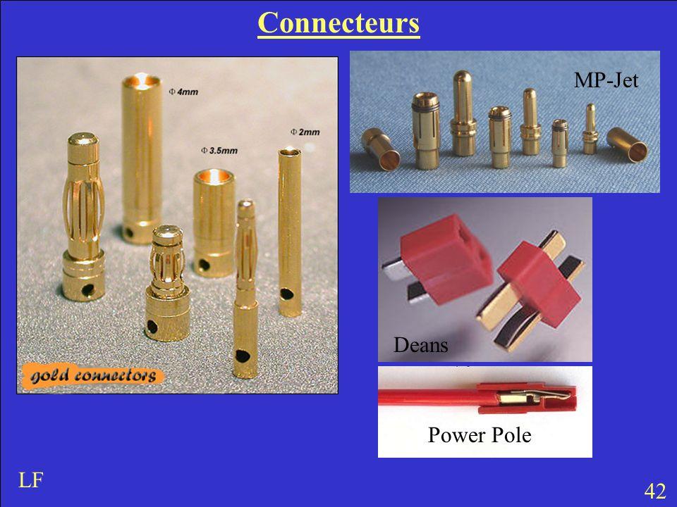Connecteurs MP-Jet Deans Power Pole LF 42
