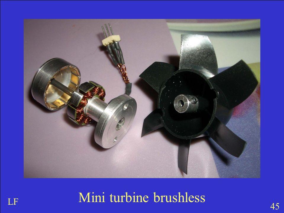 Mini turbine brushless