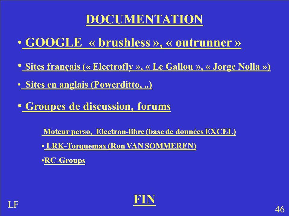 GOOGLE « brushless », « outrunner »