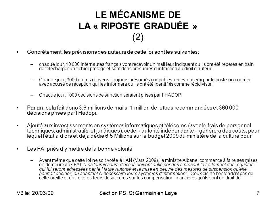 LE MÉCANISME DE LA « RIPOSTE GRADUÉE » (2)
