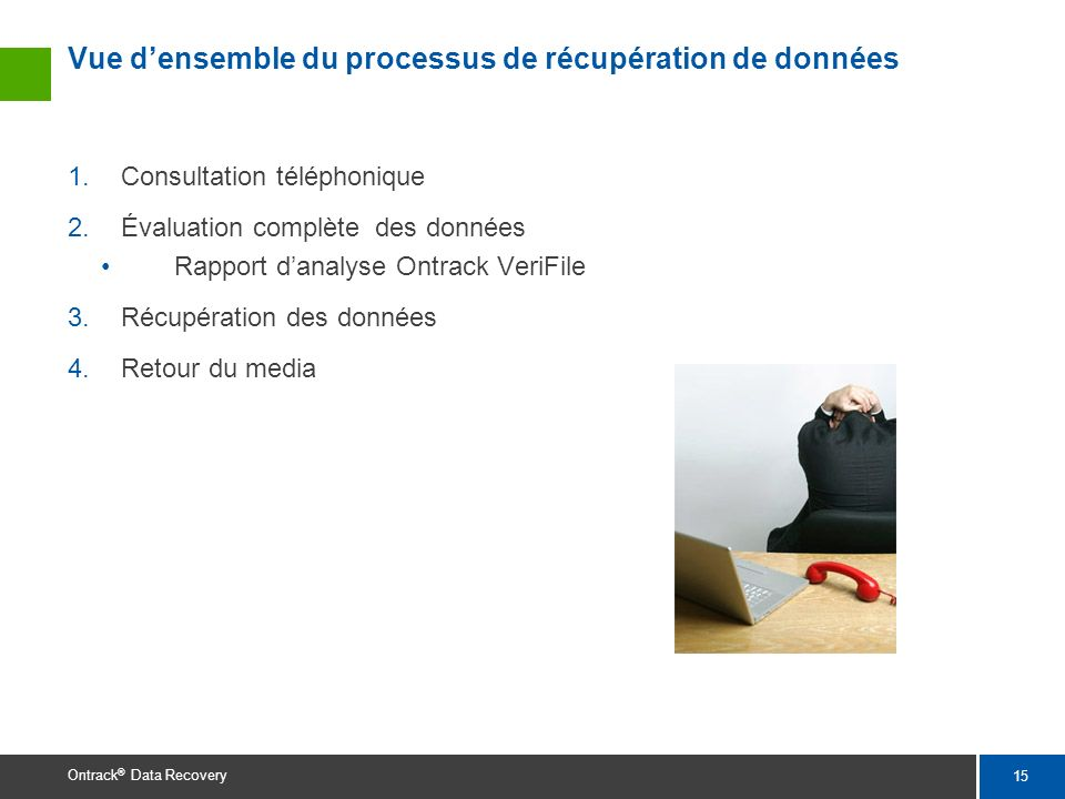Vue d'ensemble du processus de récupération de données