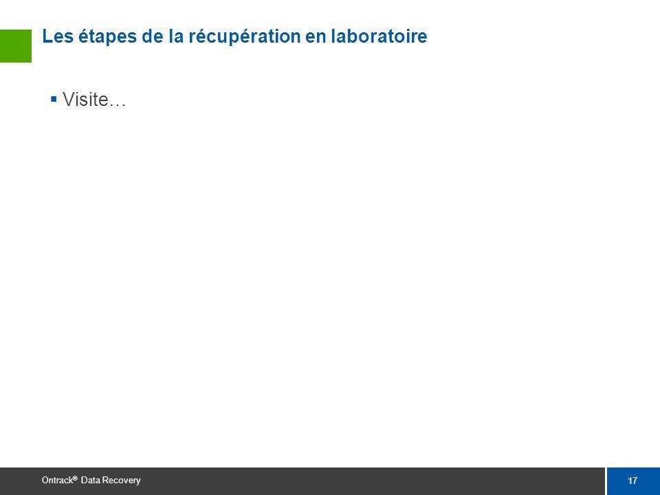 Les étapes de la récupération en laboratoire