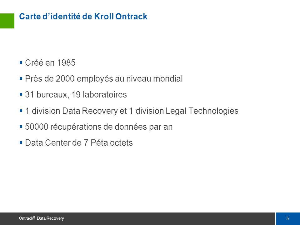 Carte d'identité de Kroll Ontrack