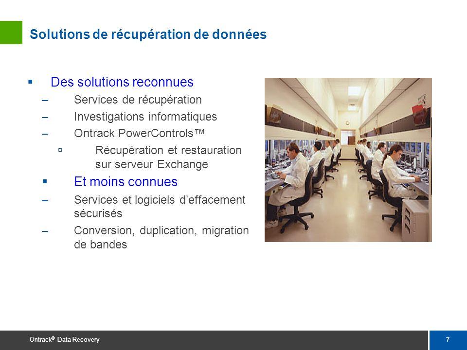 Solutions de récupération de données