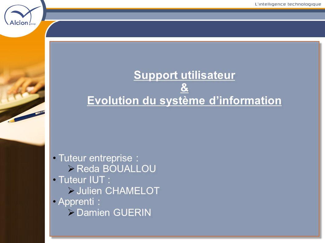 Evolution du système d'information