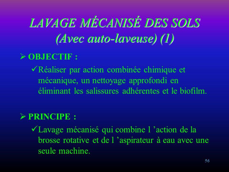 LAVAGE MÉCANISÉ DES SOLS (Avec auto-laveuse) (1)