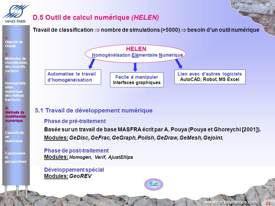 D.5 Outil de calcul numérique (HELEN)