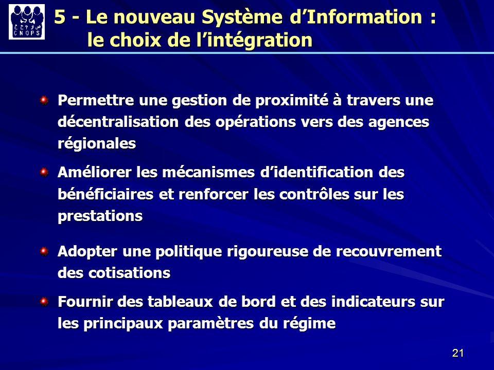 5 - Le nouveau Système d'Information : le choix de l'intégration
