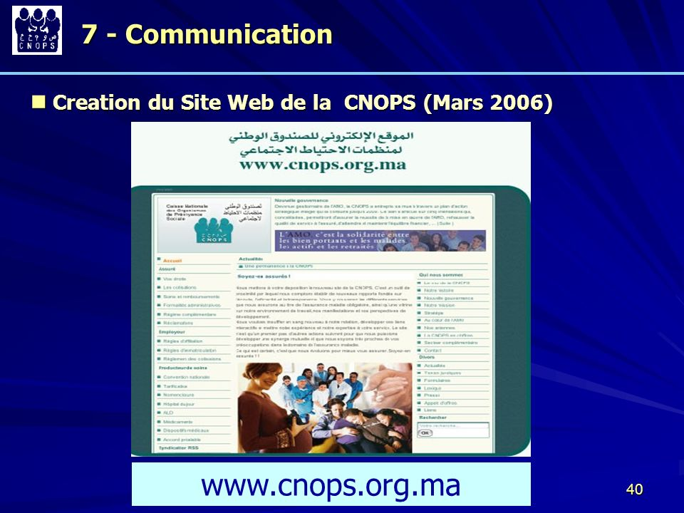 www.cnops.org.ma 7 - Communication