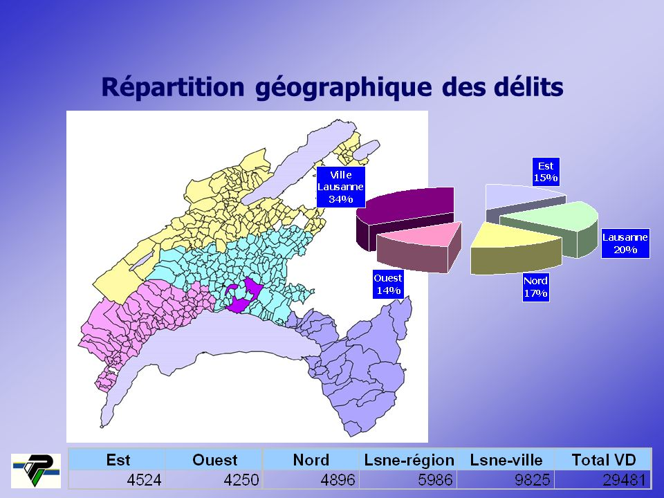 Répartition géographique des délits