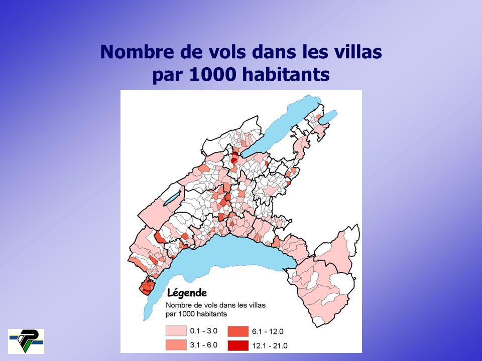 Nombre de vols dans les villas par 1000 habitants