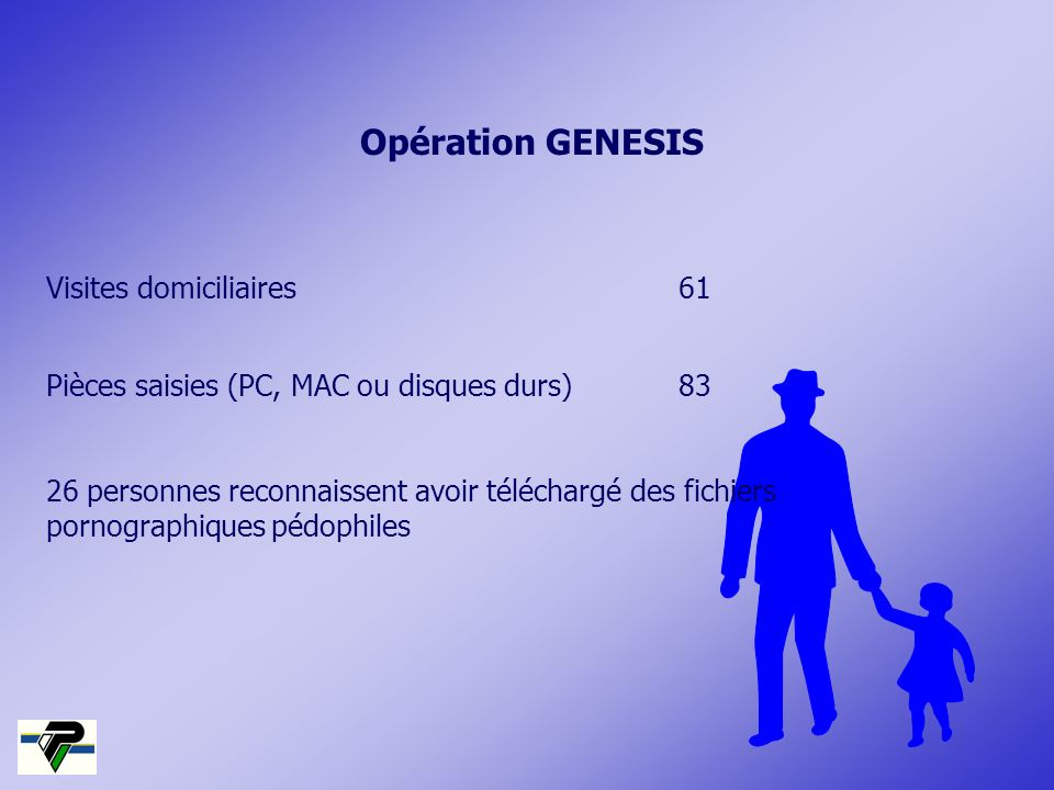 Opération GENESIS Visites domiciliaires 61