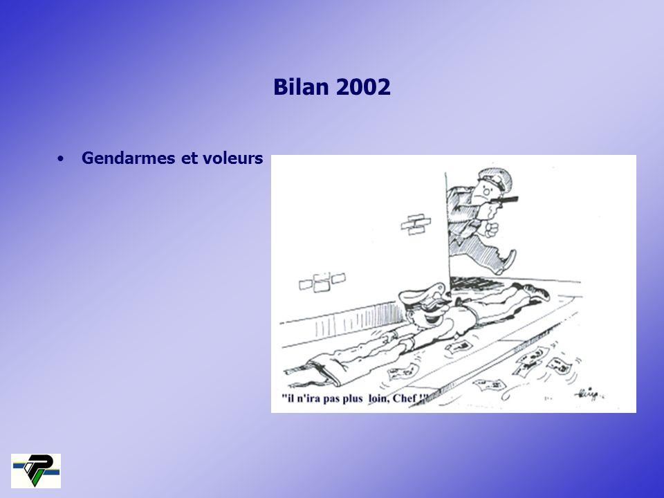 Bilan 2002 Gendarmes et voleurs
