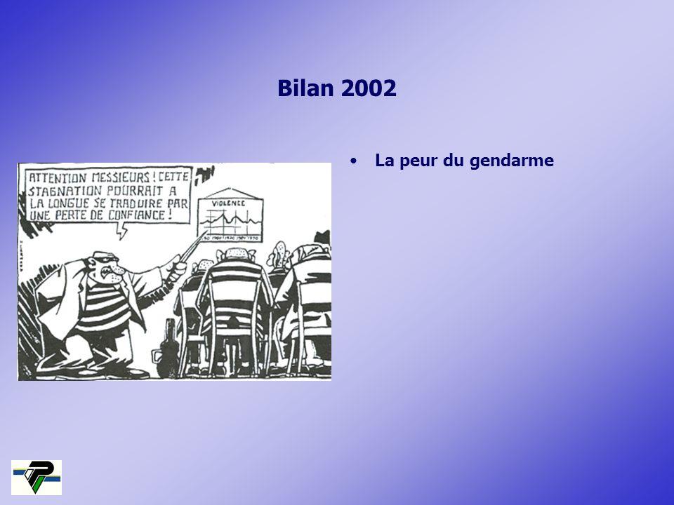 Bilan 2002 La peur du gendarme