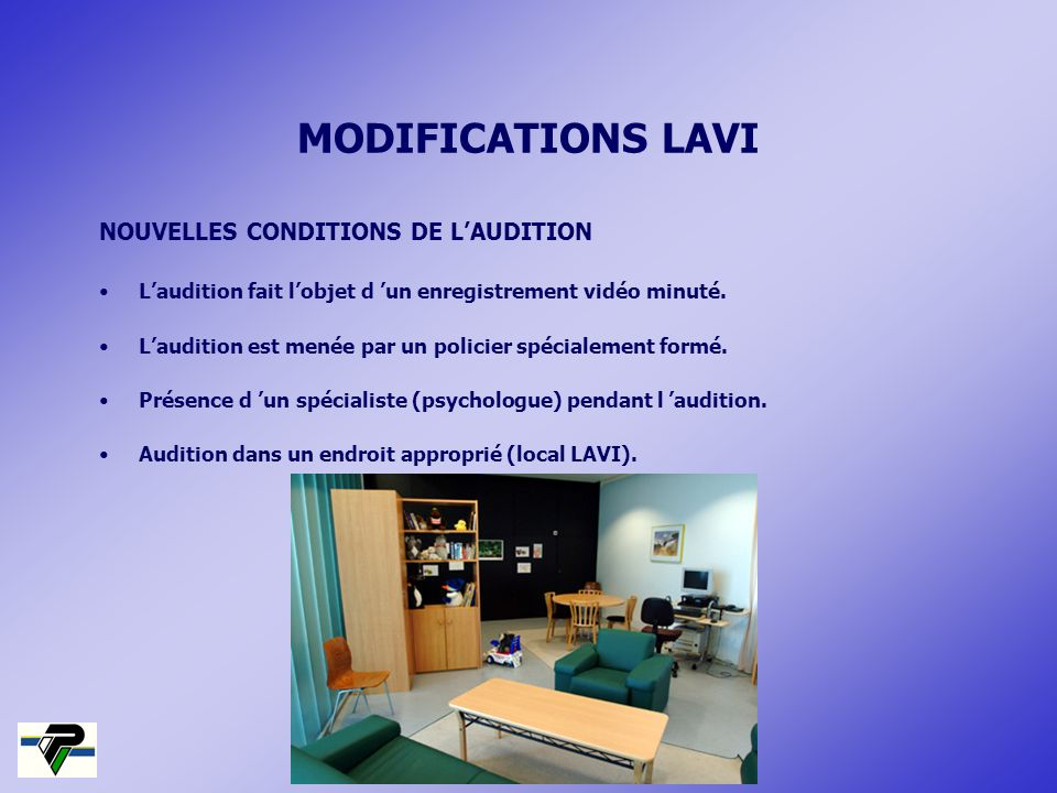 MODIFICATIONS LAVI NOUVELLES CONDITIONS DE L'AUDITION