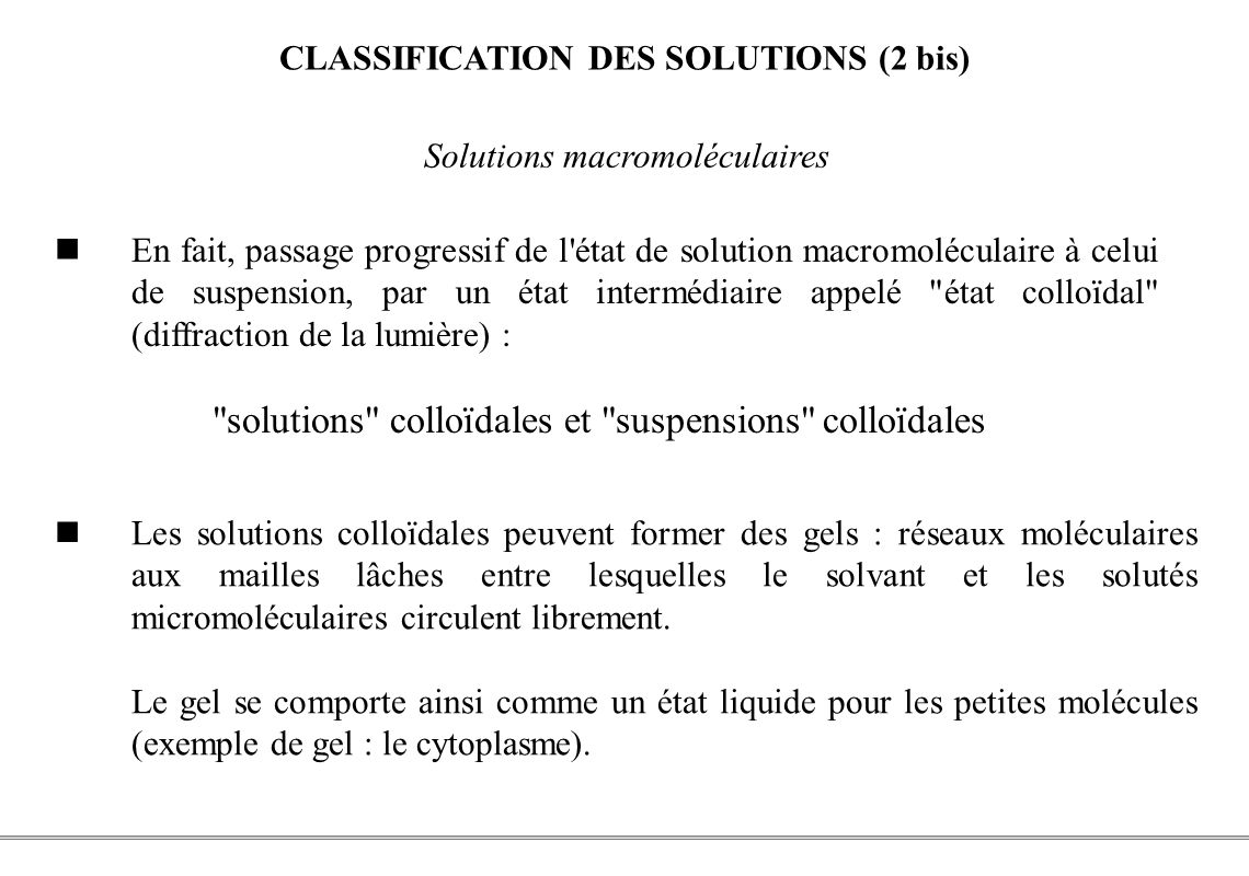 CLASSIFICATION DES SOLUTIONS (2 bis)