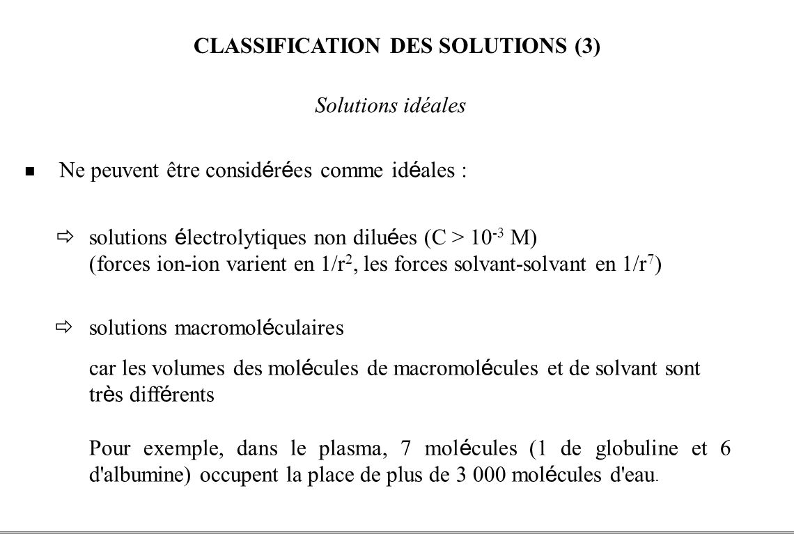 CLASSIFICATION DES SOLUTIONS (3)