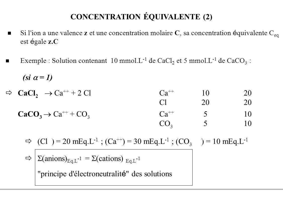 CONCENTRATION ÉQUIVALENTE (2)