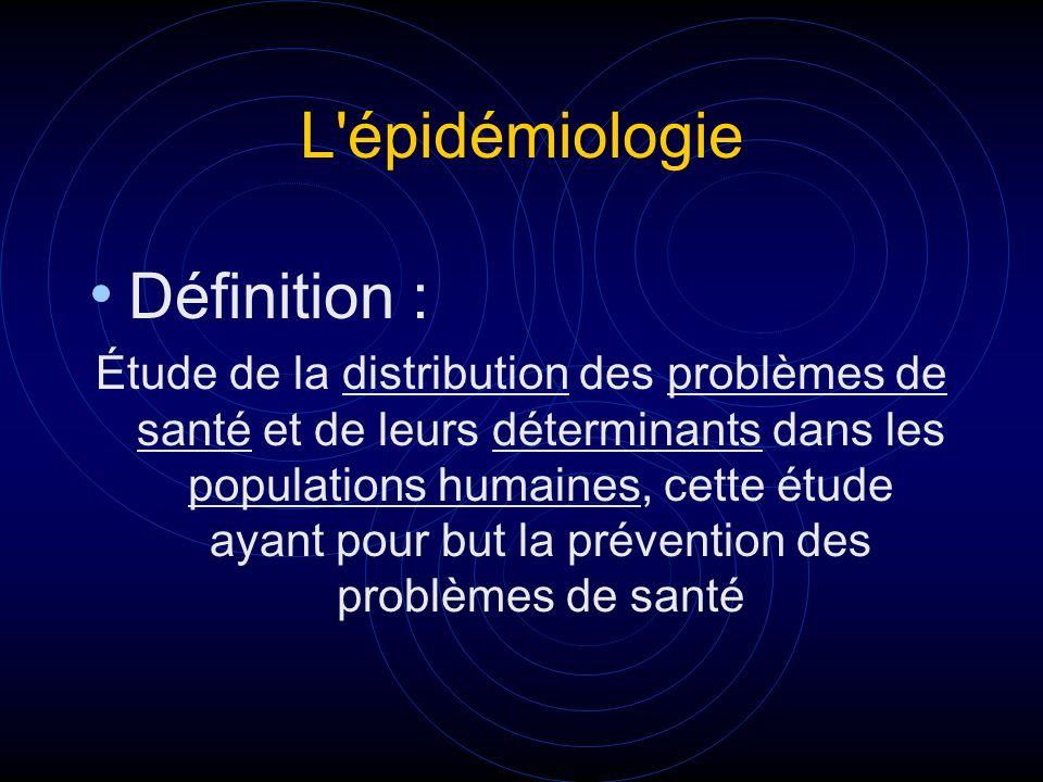 L épidémiologie Définition :