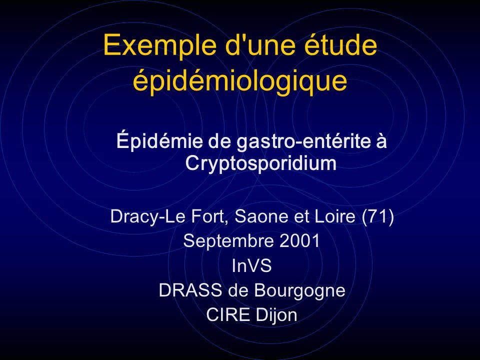 Exemple d une étude épidémiologique