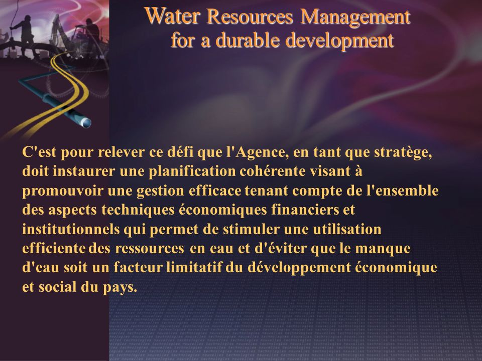Water Resources Management for a durable development