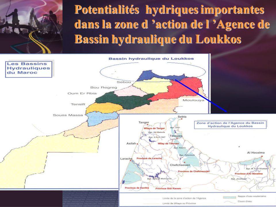 Potentialités hydriques importantes dans la zone d 'action de l 'Agence de Bassin hydraulique du Loukkos
