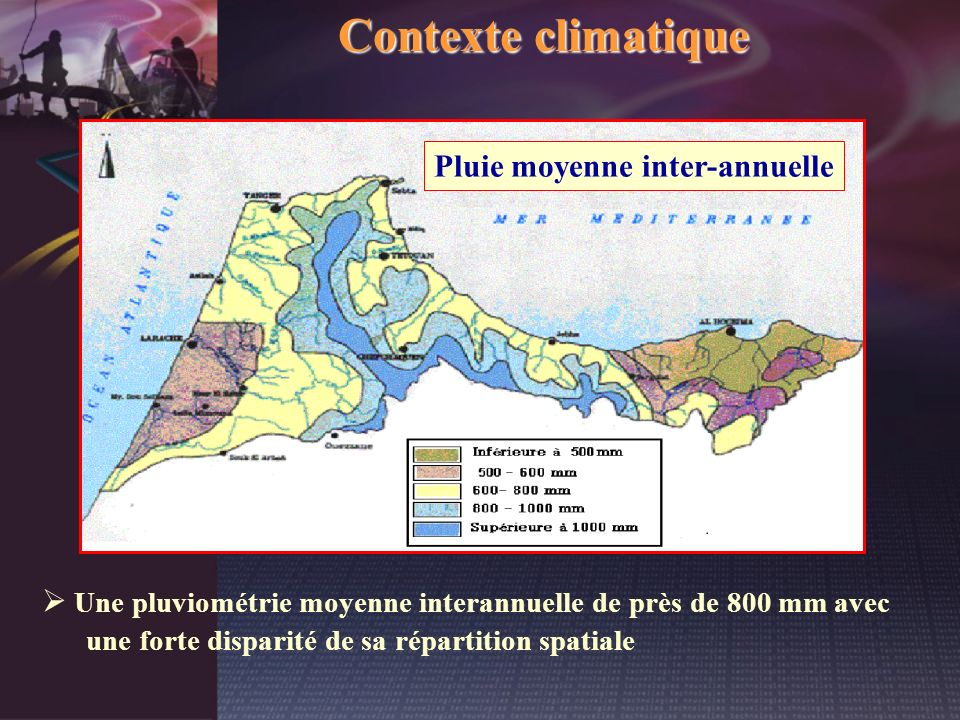 Pluie moyenne inter-annuelle