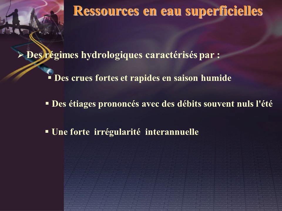 Ressources en eau superficielles